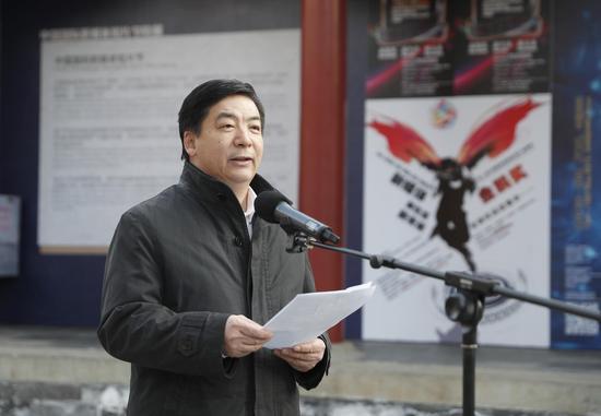 图2 中国传媒大学副校长姜绪范致辞。杨佳摄影.
