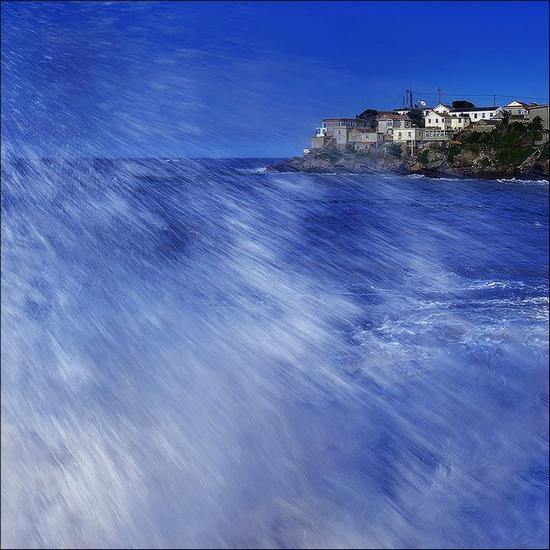 storm(组图)33危涛海滨落日34危涛海的边缘35熊发寿碧海云天