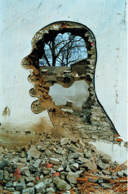 张大力《拆—西单时代广场》北京1999年