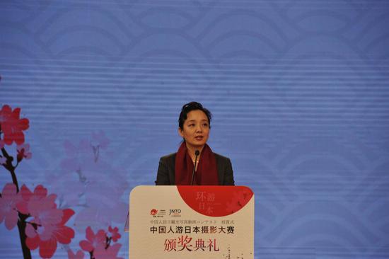 中国日本友好协会副秘书长朱丹致辞