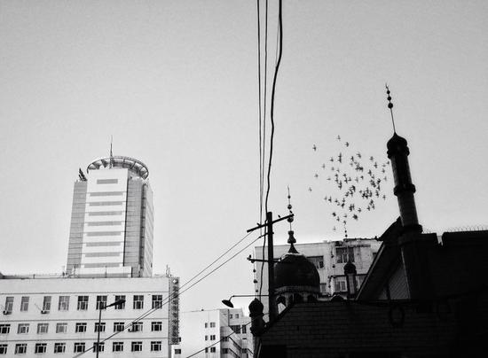 学员陈瑶希望通过自己的作品去记录乌鲁木齐城市的发展与变迁。陈瑶/摄