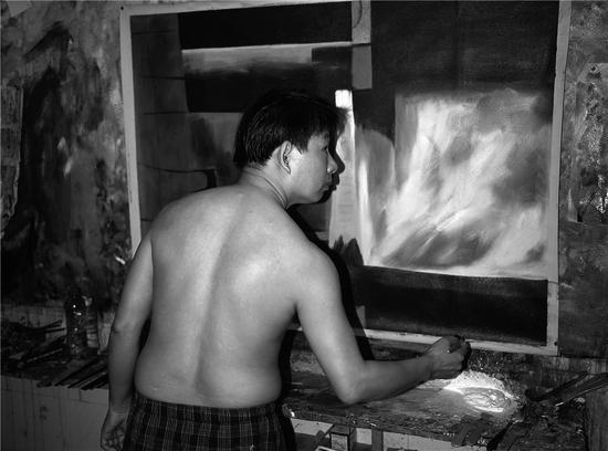秦军校 龙岗布吉大芬油画村的画工 2015年