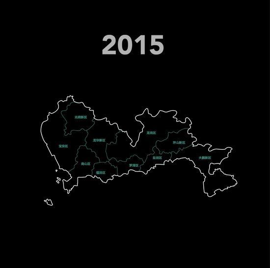 2015年的深圳市地图