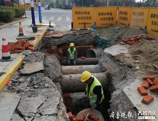 烟台排水服务中心全力推进市区排水管道改造工程