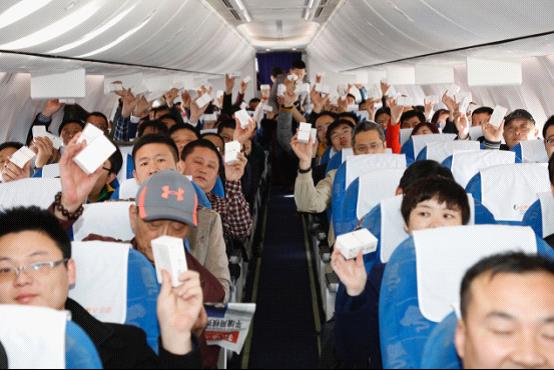 香皂,并在每架飞往山东的飞机上进行抽奖互动活动