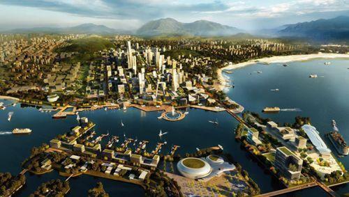 西海岸新区规划效果图