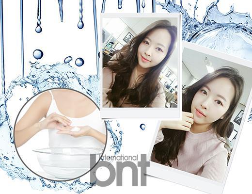 常苦恼一觉醒来脸肿的李惠贞美编介绍了自己独家去浮肿方法-用冷水洗脸。