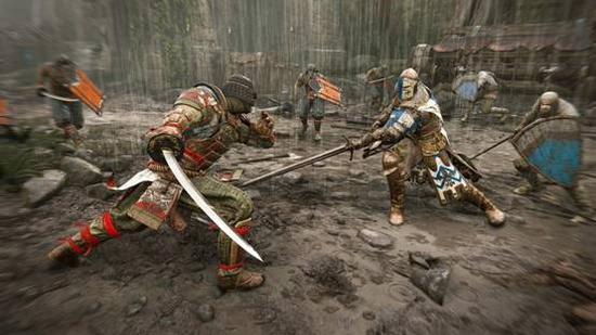 激烈的游戏战斗画面