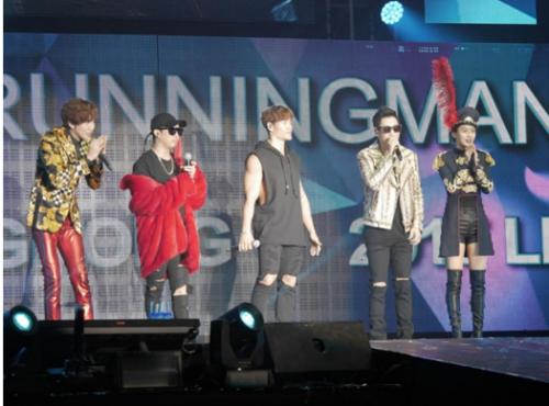 五位Running Man成员演绎经典曲目《Fantastic Baby》