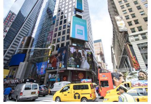 更美宣传片现身纽约时代广场