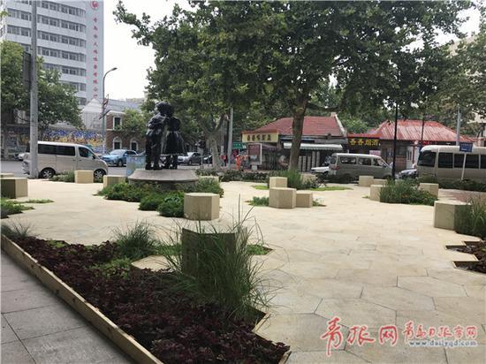 华阳路埕口路绿化节点