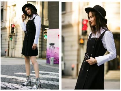 EtamParis white&black经典款小黑裙
