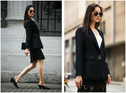 EtamParis white&black经典款西装