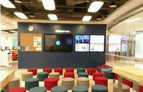 华尔街英语全新改造升级后的学习中心