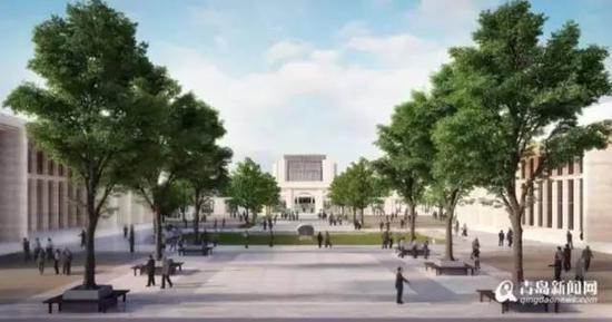 日新广场透视图