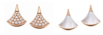 宝格丽Divas' Dream系列玫瑰金镶钻石耳环
