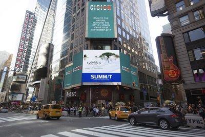 萨米特品牌广告登陆纽约时代广场