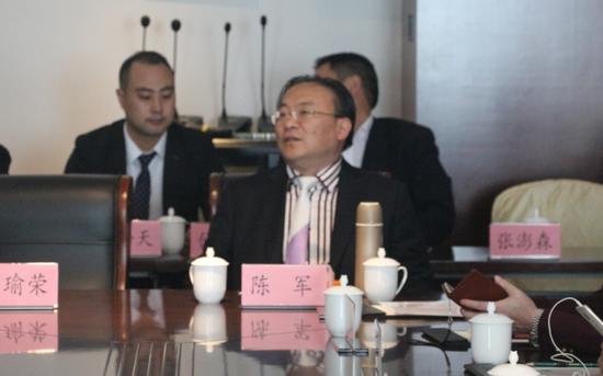 得民(天下有酒)董事长兼CEO陈军先生作开幕式致辞(图)