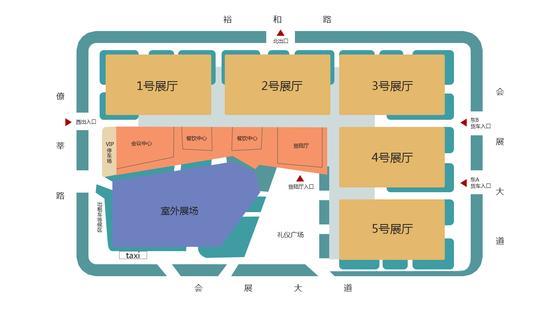 广东潭洲国际会展中心展馆平面图