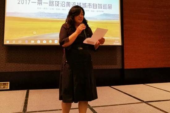 康华文旅集团董事长,青岛康华爱车投资人王珍妮女士致欢迎词(摄影