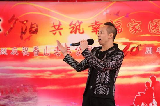 鲁朝阳现场献唱 他的原创歌曲《中国梦我的梦》