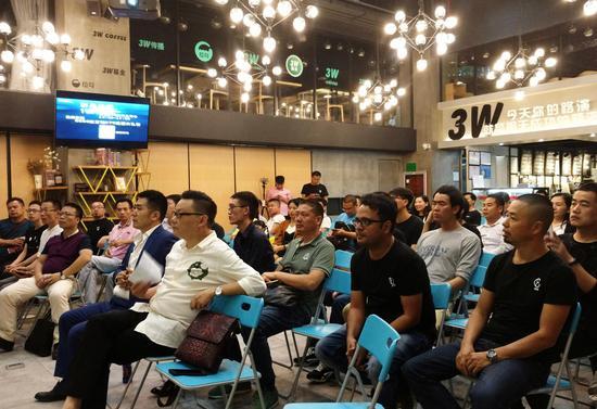 万链STC团队、嘉宾、社区成员深圳见面会现场