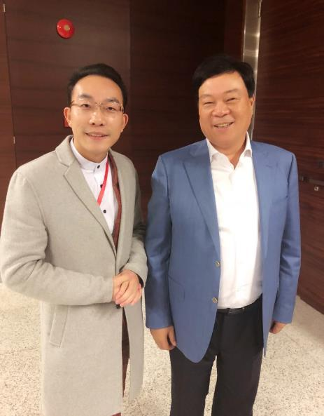 陈送军与杉杉控股董事局主席郑永刚