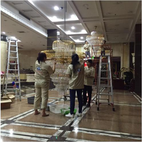 曾为广州塔、东方宾馆等公共区域提供服务