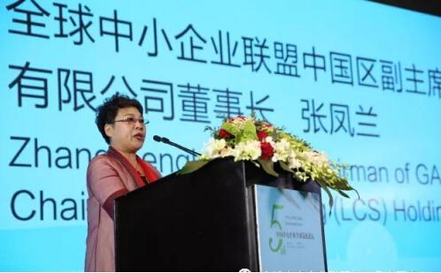 全球中小企业联盟中国区副主席、金宝融集团董事长张凤兰致辞