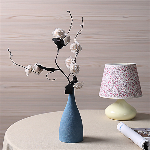 北欧简约小花瓶现代陶瓷磨砂客厅家居饰品禅意摆件干花花器工艺品