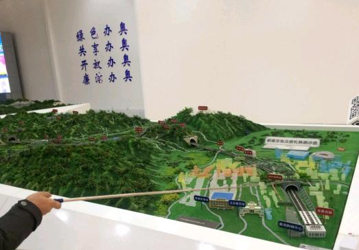 (京张高铁模型图)