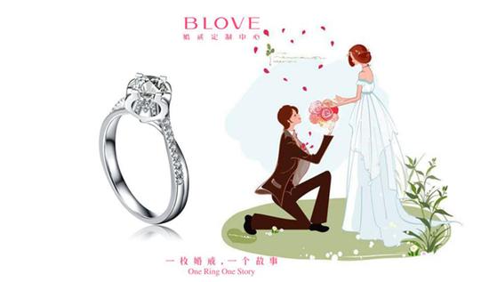 白色情人节求婚钻戒:BLOVE姓名系列Ⅱ