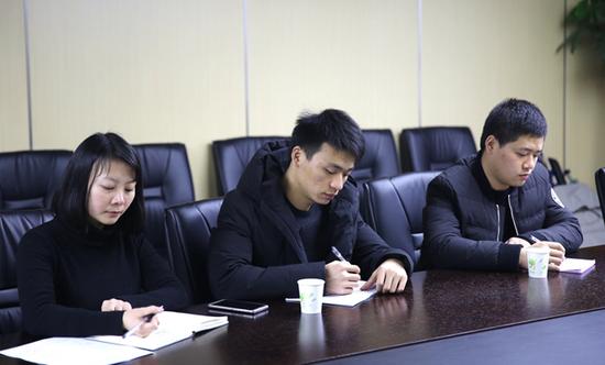 畅唐党总支(筹)党组成员一同出席会议