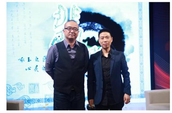 张华先生与朱轶老师合影