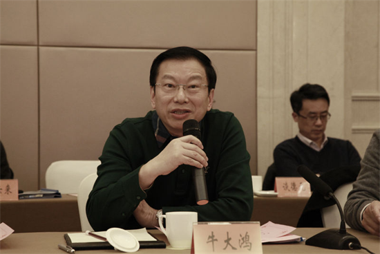 集商网络科技(上海)有限公司董事长牛大鸿在出资人会议上发言