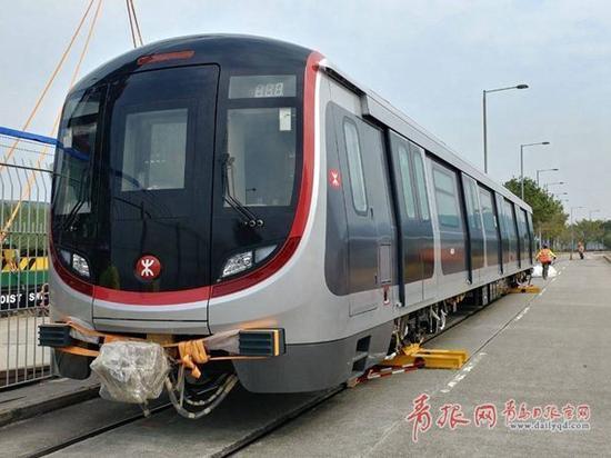 中车四方造香港市区线地铁。(图片由中车四方股份公司提供)