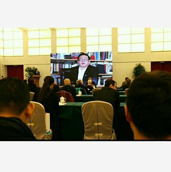 科学与艺术委员会副主席徐里讲话。