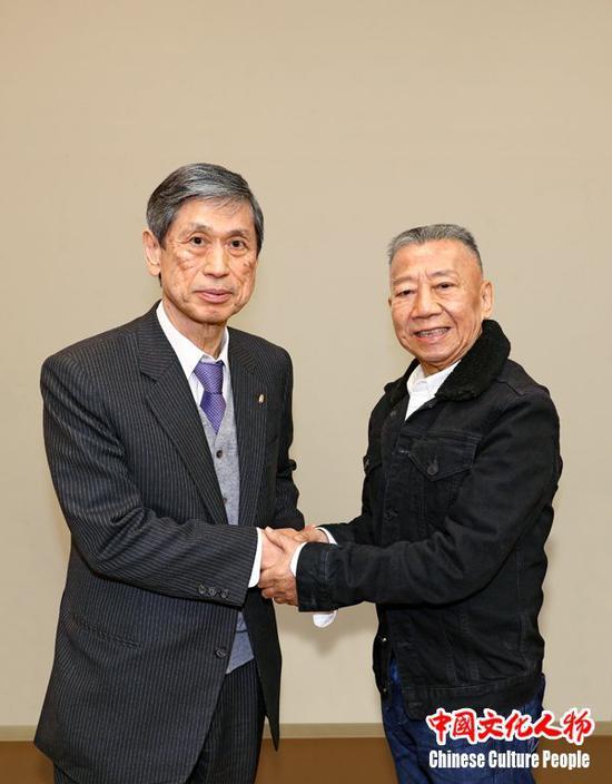 高村正彦亲切接见华语乐坛的顶级音乐制作人、著名作曲家左宏元