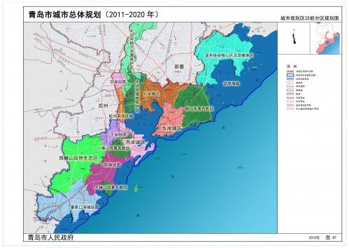 城市规划区功能分区规划图