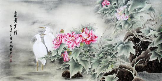 中国当代工笔花鸟画坛杰出画家李凤龙