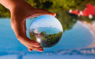 厉害了!水晶球里的青岛颜值爆表