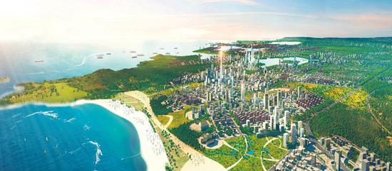 绿色新港城效果图