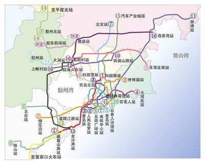 青岛市城市轨道交通线网规划远景年方案示意图 本报制图 金 琳