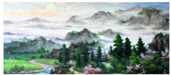 季世山代表作《春岭》