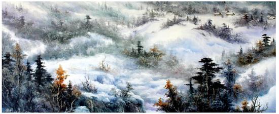 季世山代表作《林海雪原》
