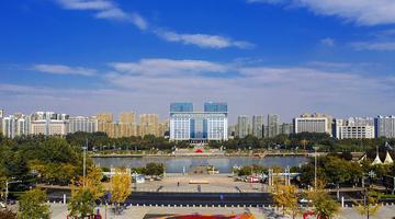 山东胶州:三里河公园秋色