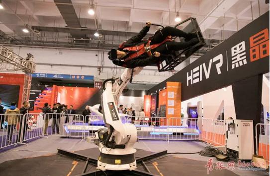 2017国际虚拟现实创新大会展会现场。 记者 刘栋 摄