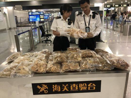 四川空港口岸截获近年来最大批次鱼翅