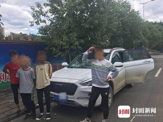 广元14岁熊孩子偷开家中越野车 载上三伙伴街头兜风