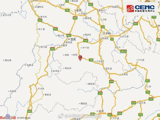 四川长宁发生6级地震